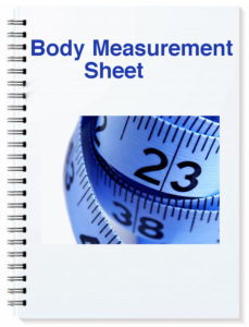 body measurement sheet in weight loss