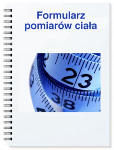 formularz pomiarów ciała ebook do kursu jak schudnąć w miesiąc