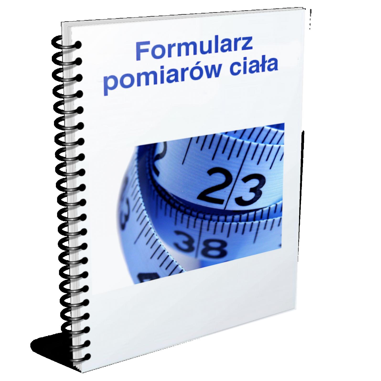 formularz pomiary ciała