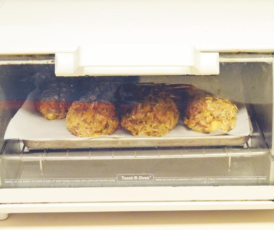 cookies in an oven