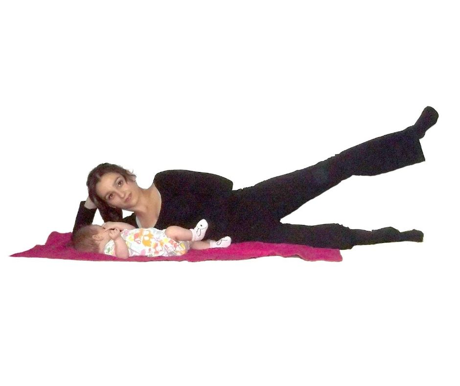 postpartum exercise legs