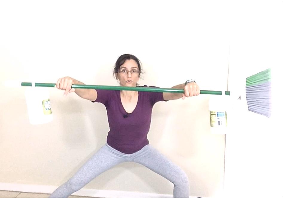 barbells leg workout side lunge