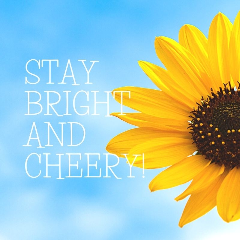 stay bright and cheery